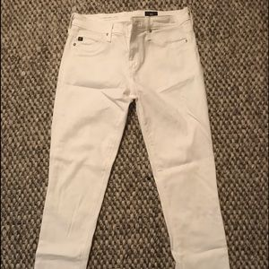 Abby Crop white jeans.